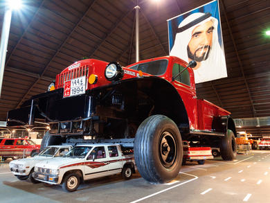 Emirates National Auto Museum in Abu Dhabi