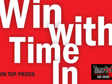 Win with Time In – win top prizes in Abu Dhabi