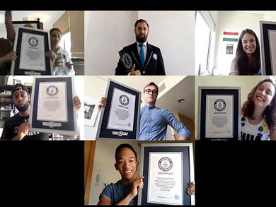 Abu Dhabi athletes set Guinness World Record remotely