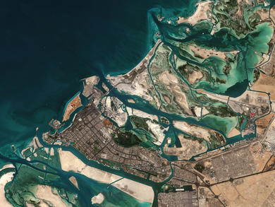 Stunning satellite pictures show Abu Dhabi captured from space
