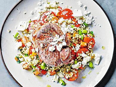 Recipe: Lamb, feta and bulgur salad