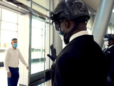 New coronavirus-detecting smart helmet is introduced in the UAE