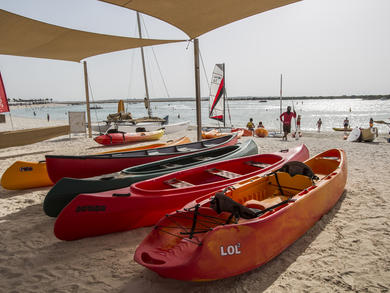 Abu Dhabi's Yas Beach has reopened to the public