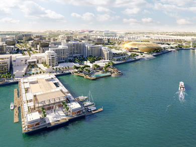 What's happening with Abu Dhabi's Yas Bay development?
