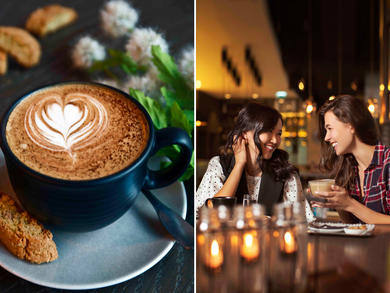 You can get a coffee for Dhs5 at Café 302 Abu Dhabi