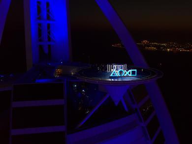 See the PS5 unboxed on Burj Al Arab helipad in Dubai
