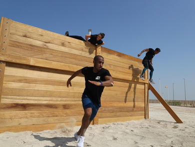 The UAE's largest permanent obstacle course has opened in Abu Dhabi